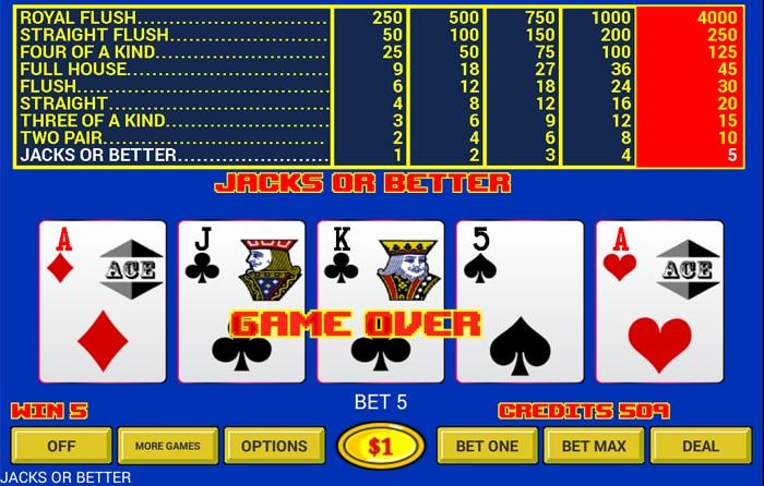 Probeer ook eens video poker