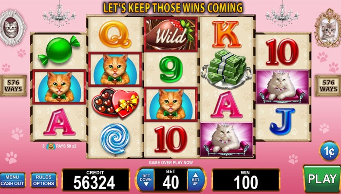 Gokkast Candy Cats and Cash Gameplay