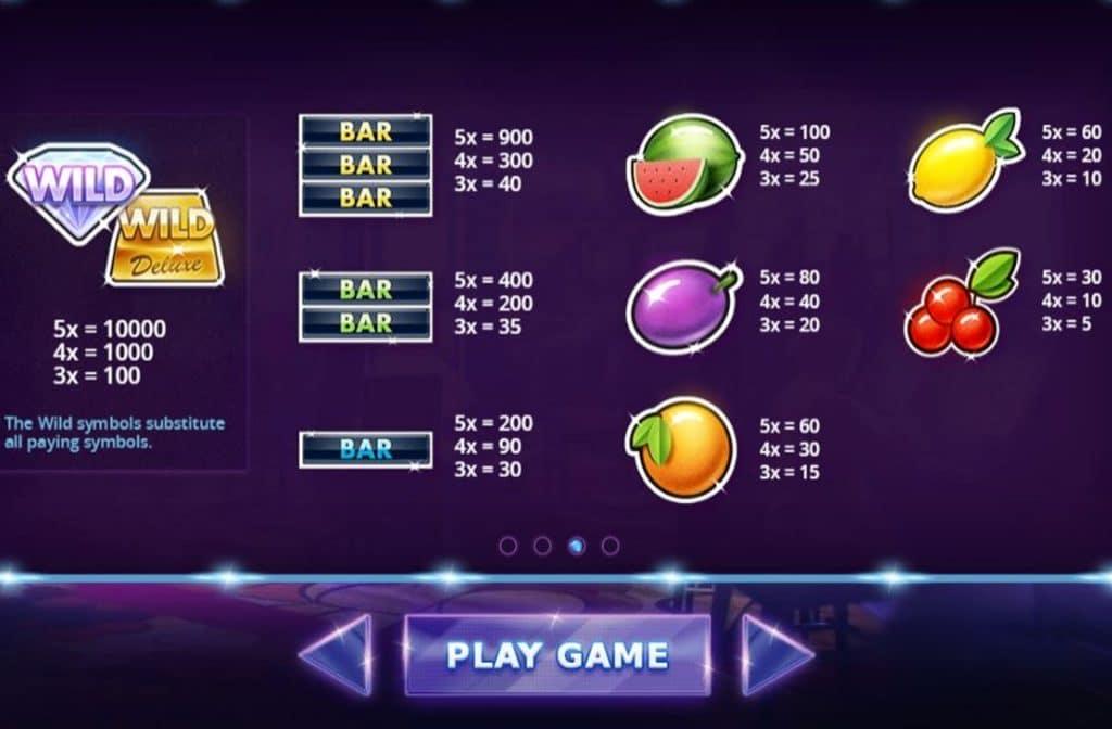 Bij Fruit Stack Deluxe heeft het BAR-symbool een hoog uitbetalingspercentage