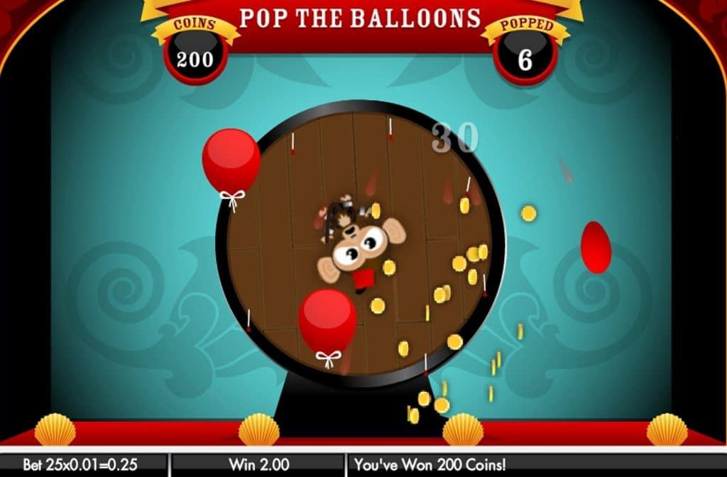 Met de Balloon Bonus verander je in een messenwerper en moet je zoveel mogelijk ballonnen stuk gooien