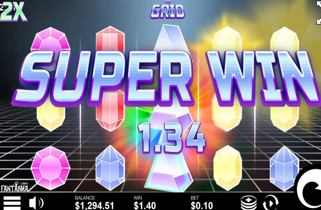 Door de diverse bonussen zijn er mooie prijzen te winnen bij The Grid
