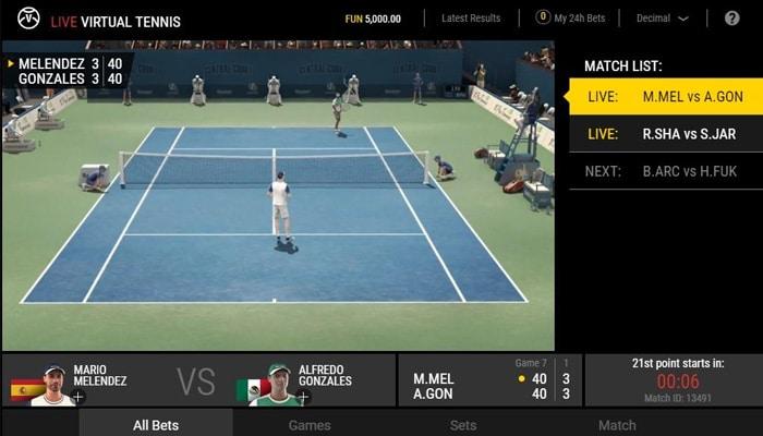 Gokkast Virtual Tennis Gameplay