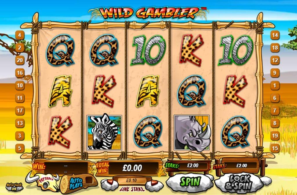 Wild Gambler is een kleurrijke gokkast met veel wilde dieren