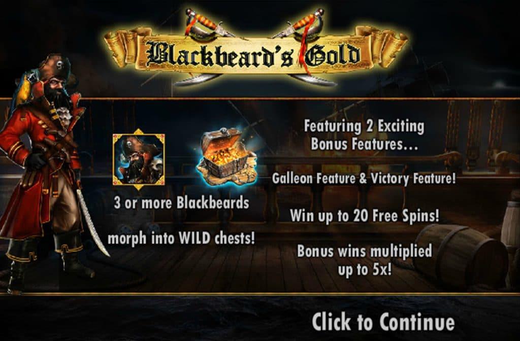 Blackbeard's Gold Bonussen