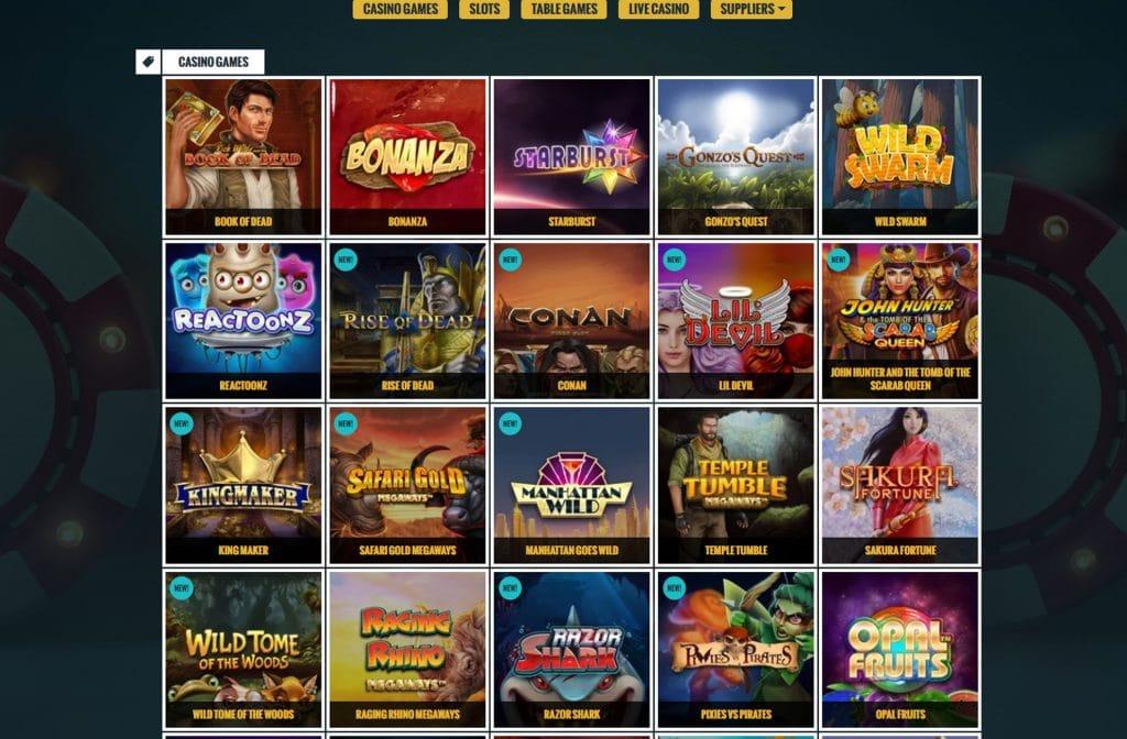 Casino spellen bij No Account Casino