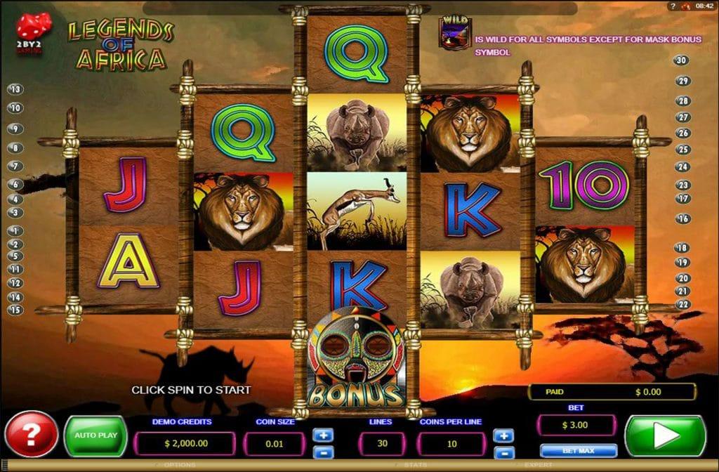 De Big 5 komen terug in deze gokkast Legends of Africa