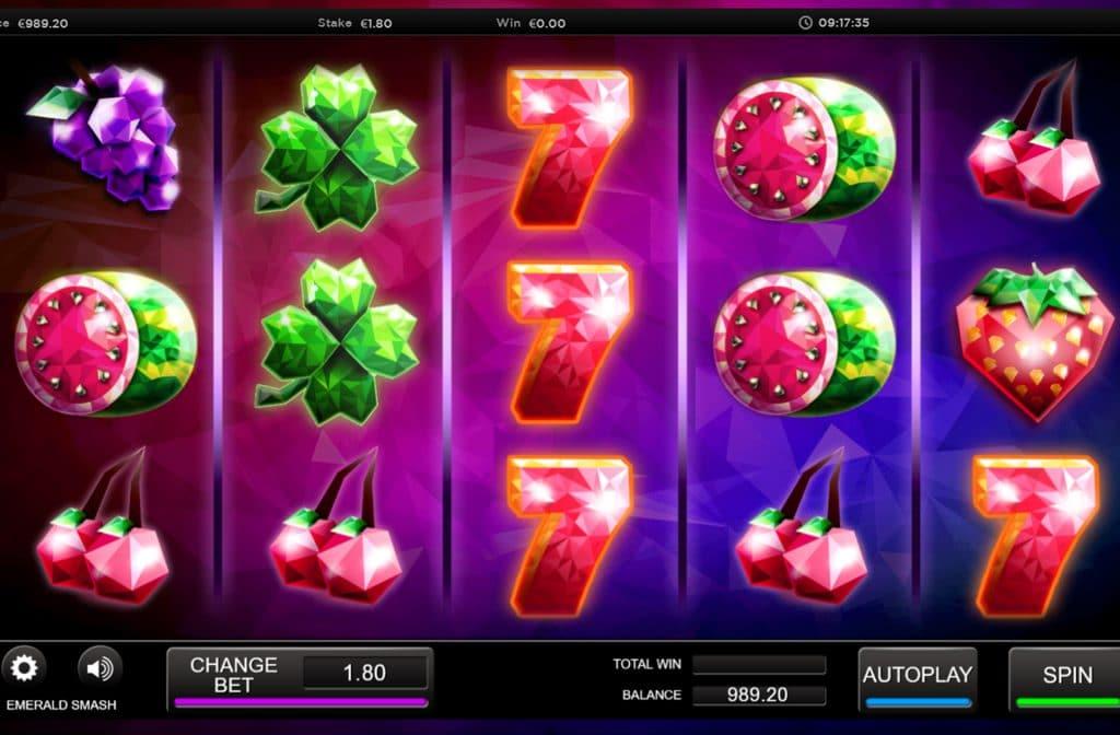 De Lucky 7 is het best betalende symbool van Emerald Smash