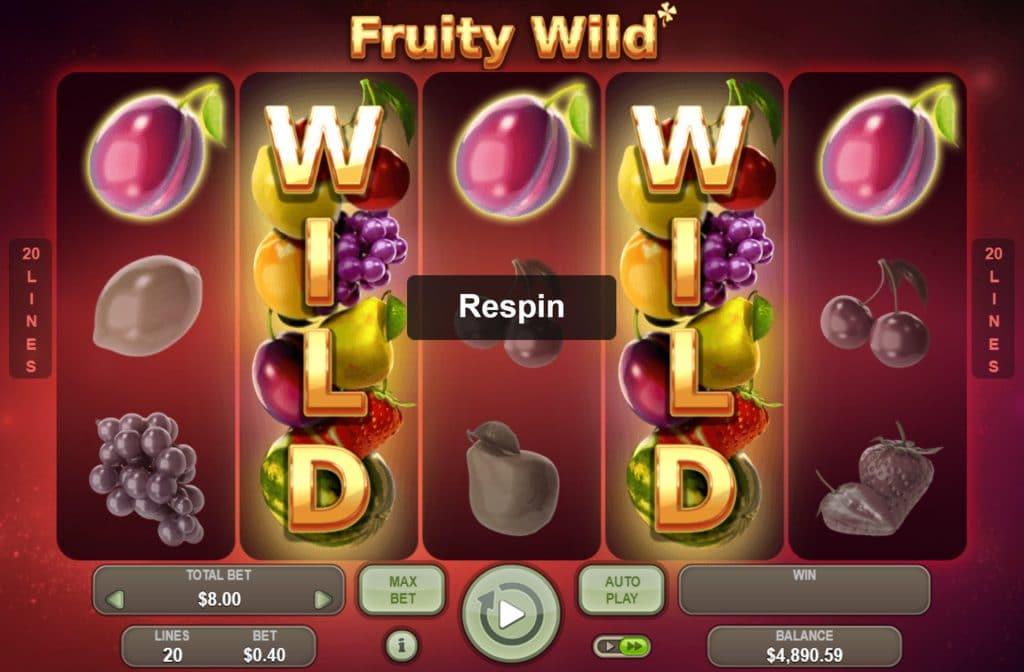 Fruity Wild beloond je met gratis respins