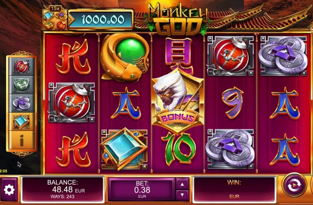 Gokkast Monkey God heeft een mooie gameplay
