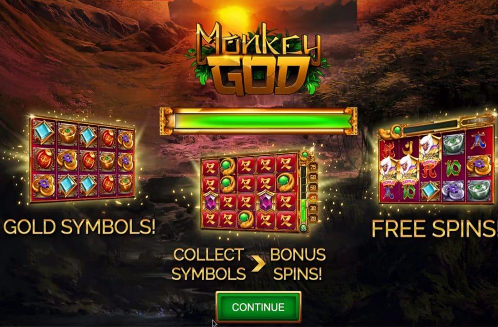 Bij het spel Monkey God zitten er verschillende extra symbolen in het spel verstopt
