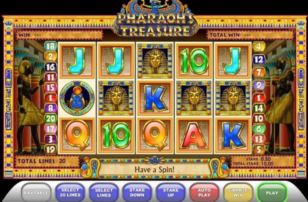 Pharaoh's Treasure speelt zich af in het oude Egypte