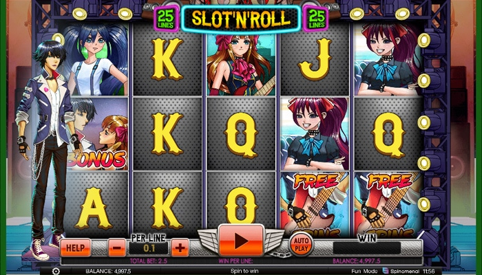 Gokkast Slot 'n Roll Gameplay