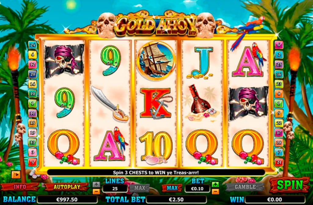 Gold Ahoy van Amaya heeft een Piraten Thema