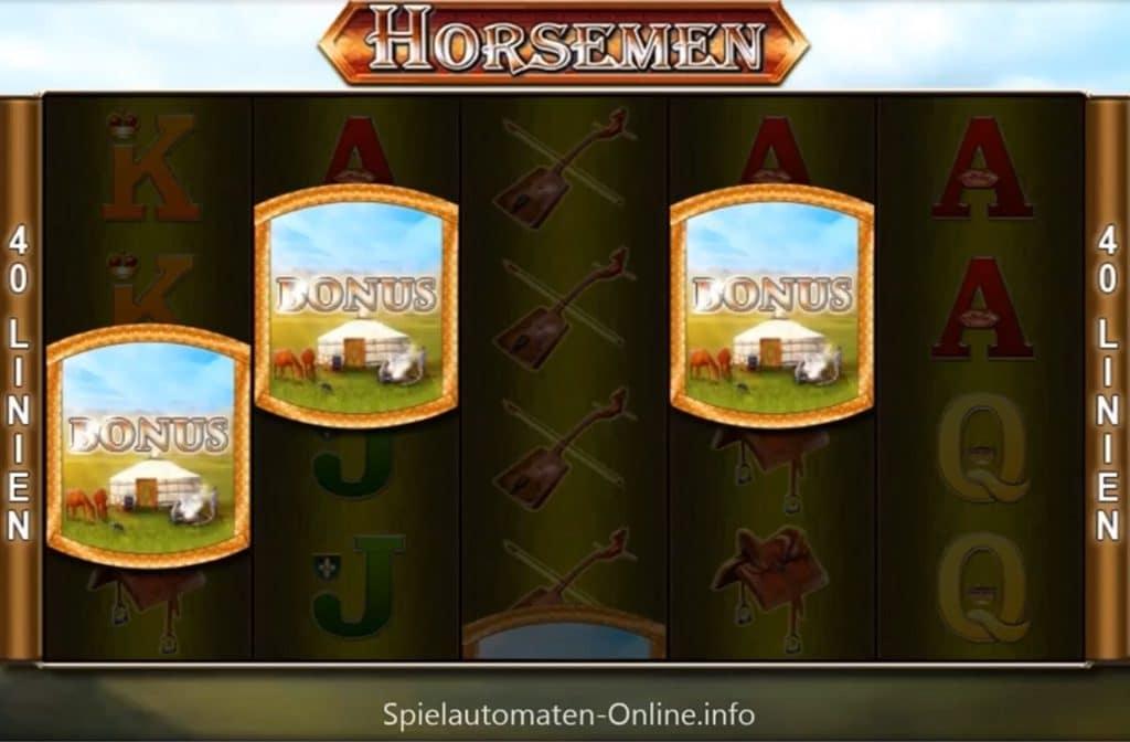 De Scatter bij Horsemen zorgt voor een mooie bonus