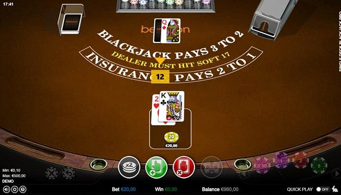 Kies het spel waarbij Blackjack 3 tegen 2 uitbetaald