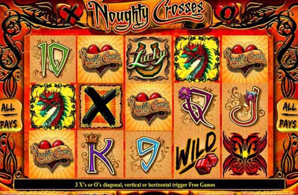 De dobbelstenen zijn de wild in Noughty Crosses