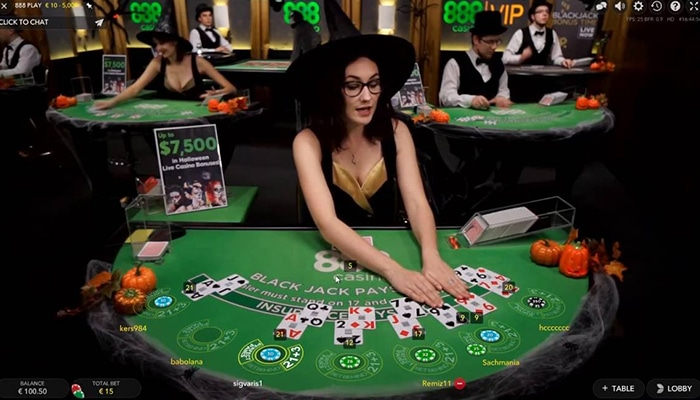 Ook Live Blackjack is een goede keuze