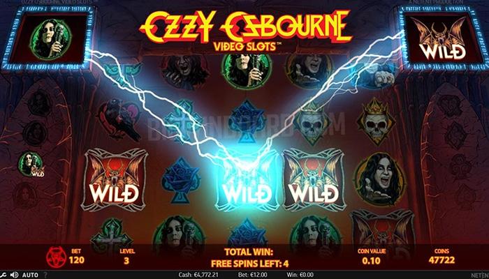 Ozzy Osbourne Video Slot Gameplay