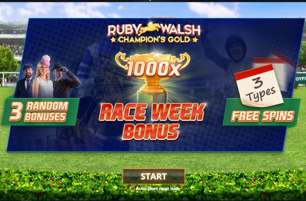 Bij Ruby Walsh; Champion's Gold zijn er diverse bonussen te verdienen