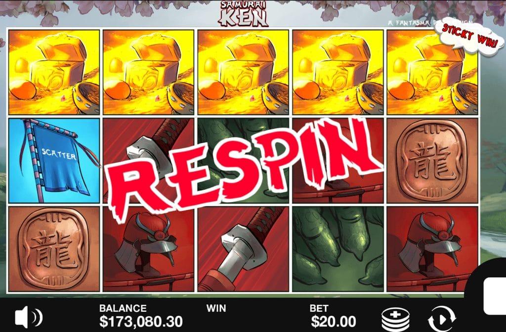 Door de Respins bij Samurai Ken zijn er mooie winsten te behalen