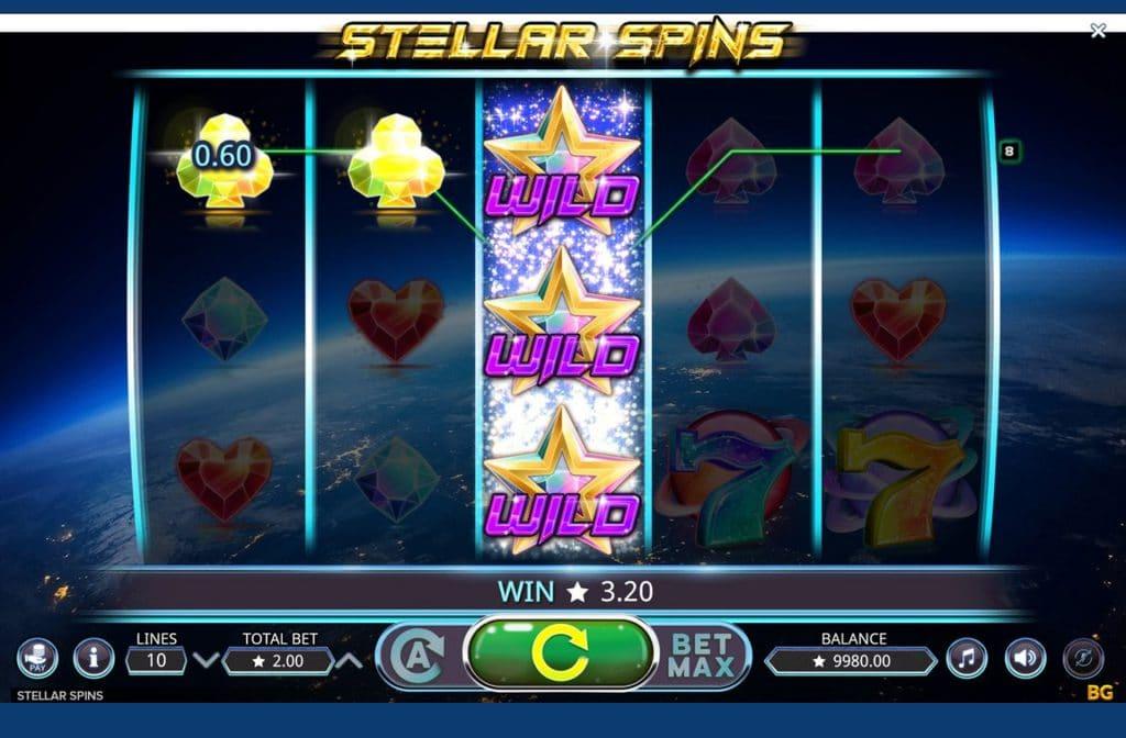 Stellar Spins staat bekend om zijn unieke jackpot