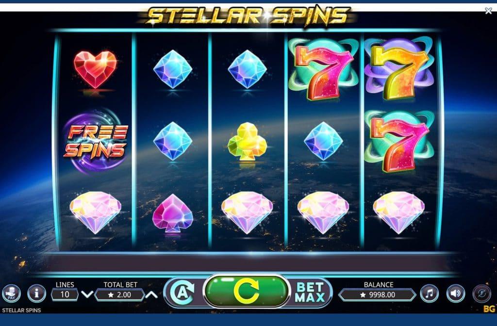 De Free Spins in Stellar Spins maken het spel spannend