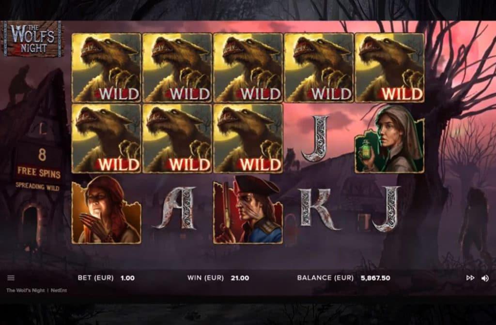 Wilds zijn er veel bij The Wolf's Night