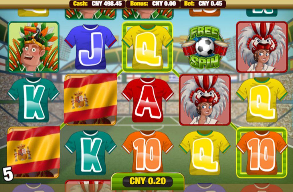 De voetbal met groene letters Free Spin zorgt voor de free spins in dit spel