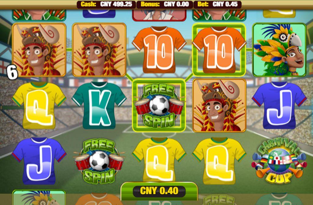 Carnival Cup is ontwikkeld door softwareprovider Nektan