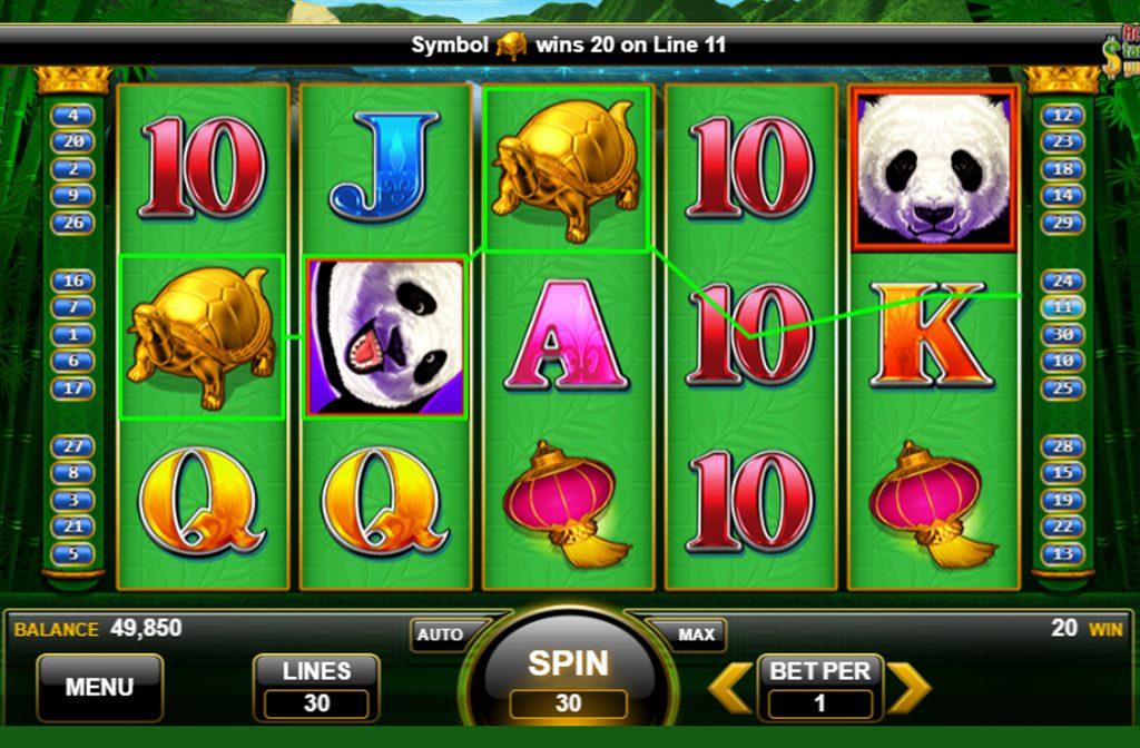 De pandabeer is het Wild symbool in dit spel