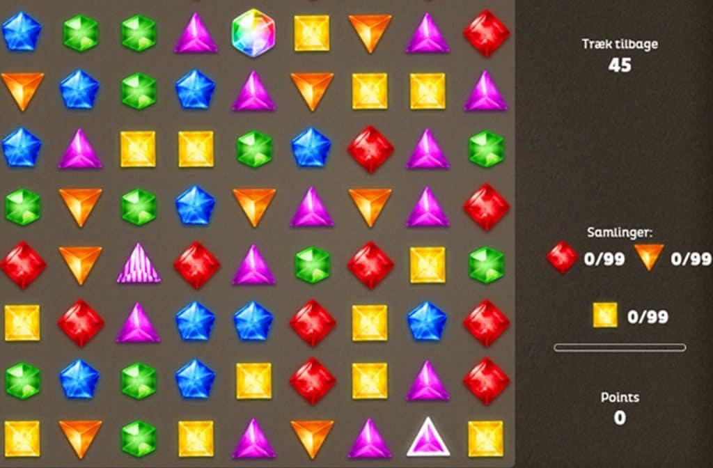 Het spel Diamonds doet je denken aan het bekende Candy Crush