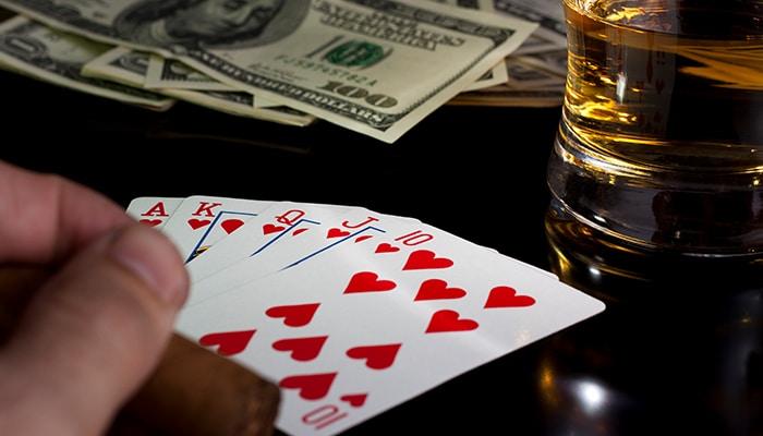 Drank en gokken gaan moeilijk samen