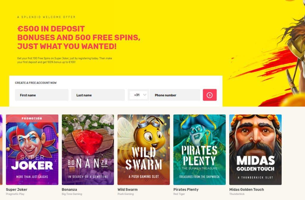 Homepage van Justspins