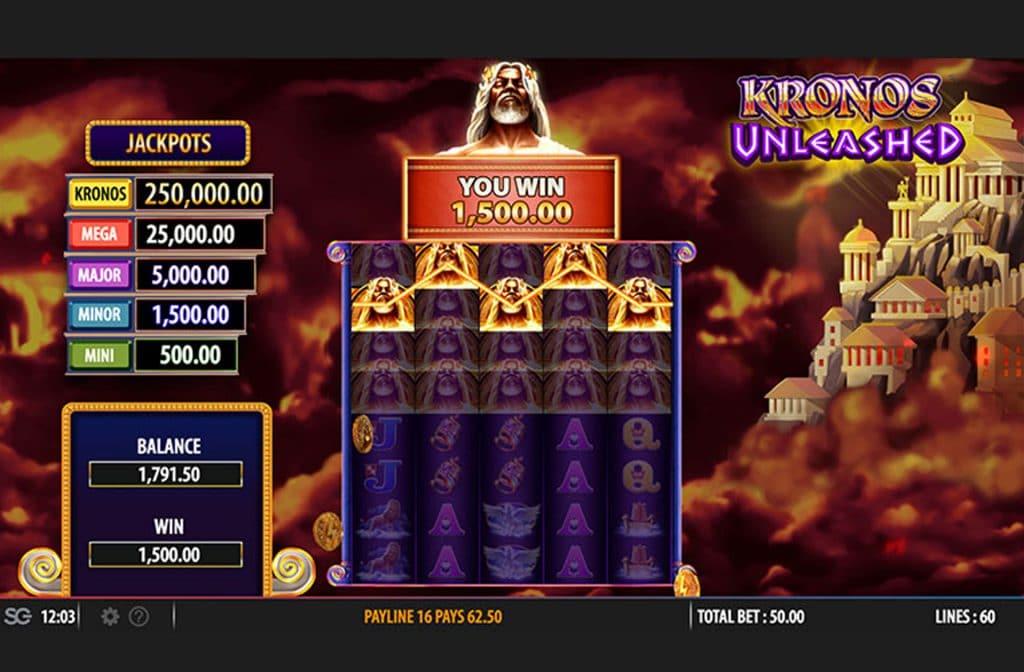 Bij Kronos Unleashed ontvang je mooie bonussen