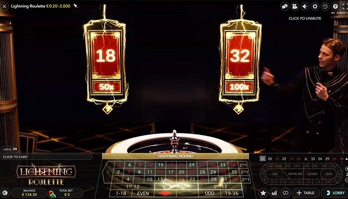 Lightning Roulette in een live online casino