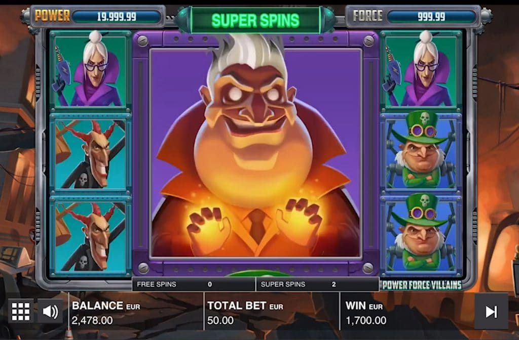 Gokkast Power Force Villains is ontwikkeld door Push Gaming