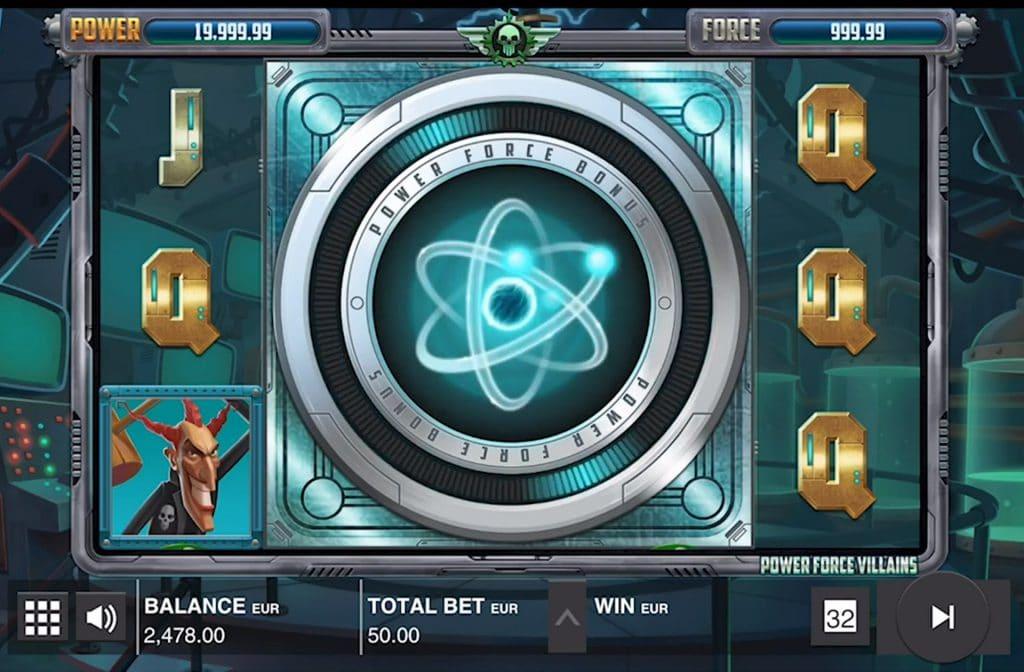 De bonussen in Power Force Villains maken het spel extra leuk
