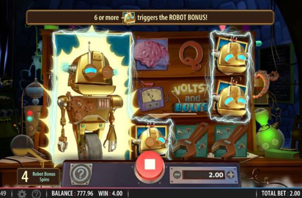 Verdien mooie prijzen met de Robot Bonus Spins