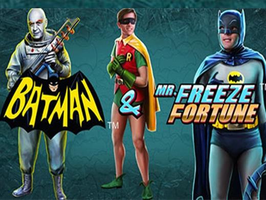 Batman and Mr Freeze Fortune logo