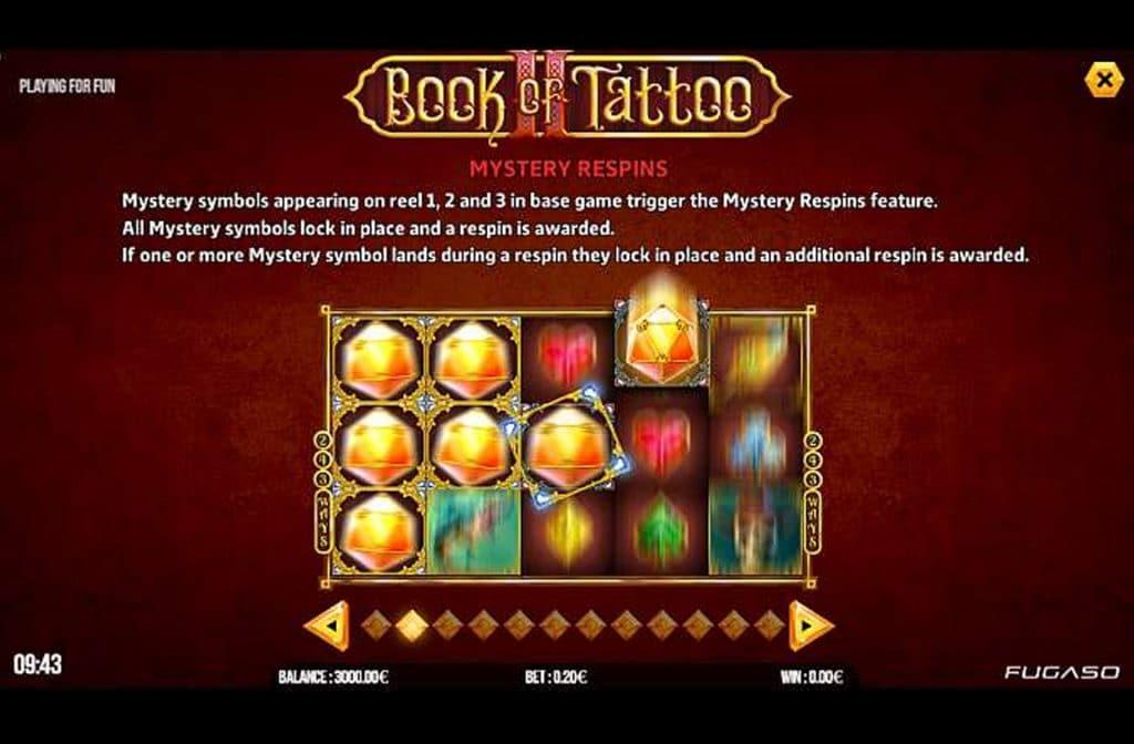 Bij Book of Tattoo 2 draait het vooral om re-spins