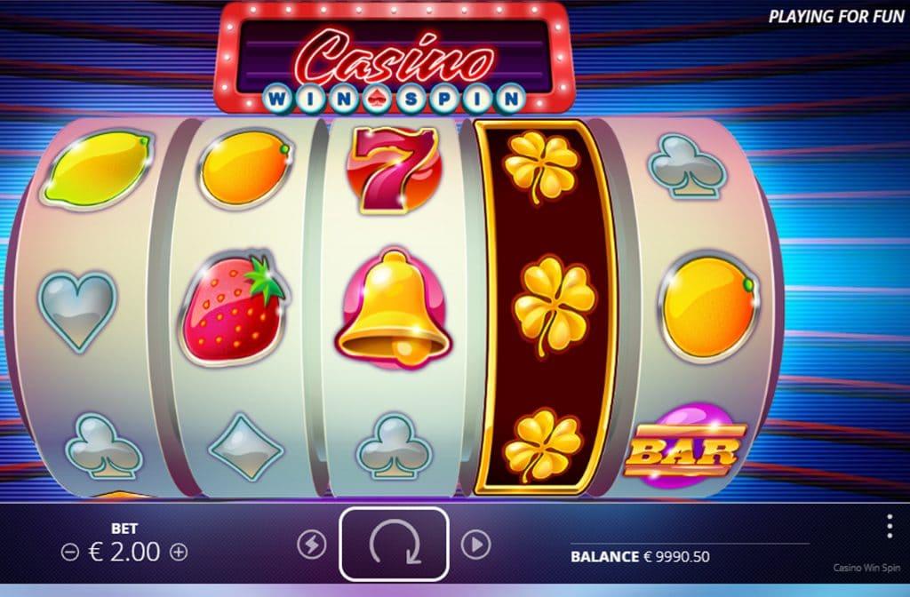 Het gouden klavertje vier is de expanding wild bij Casino Win Spin