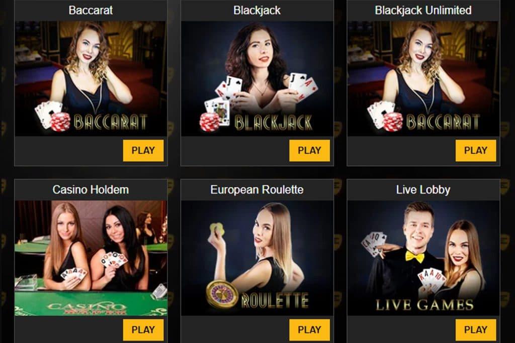Enzo Casino beschikt ook over een Live Casino