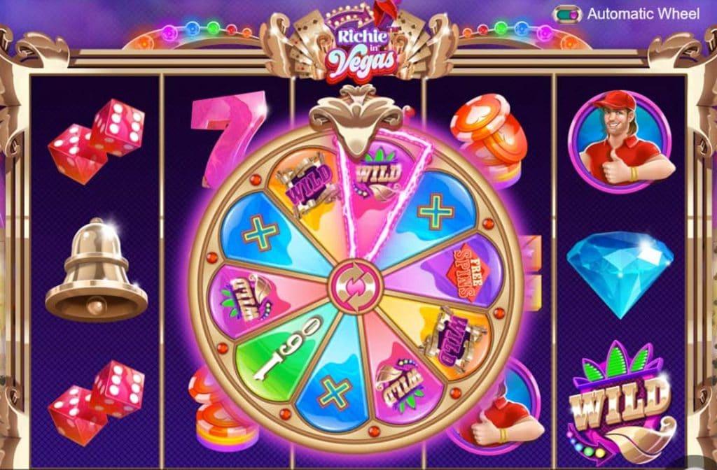 Het felgekleurde Wheel of Chance zorgt voor mooie prijzen