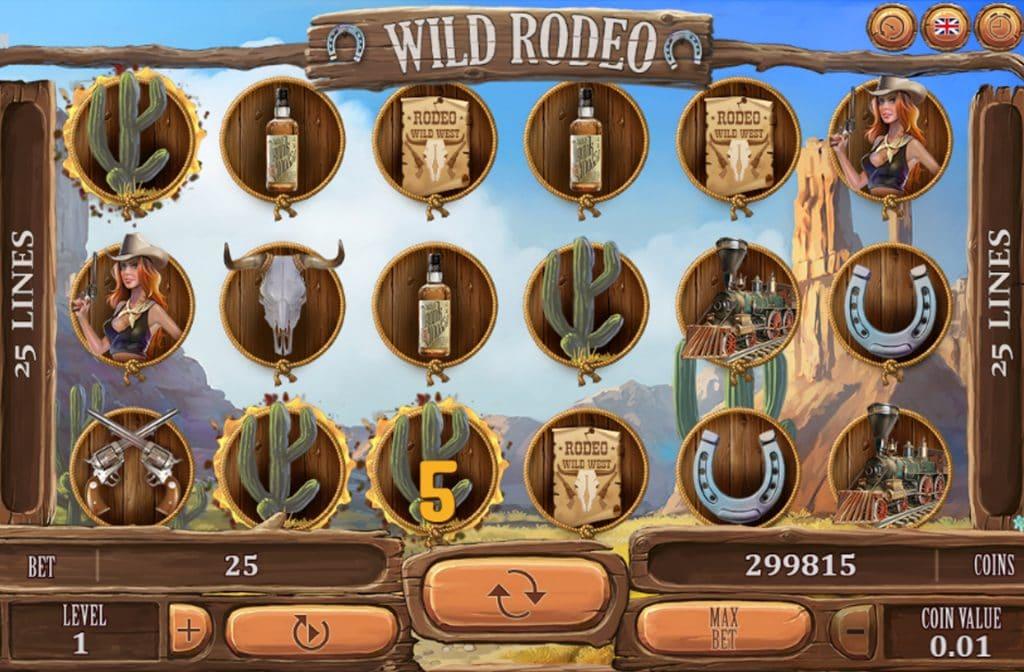 De diverse symbolen bij Wild Rodeo zorgen voor een mooie uitbetaling