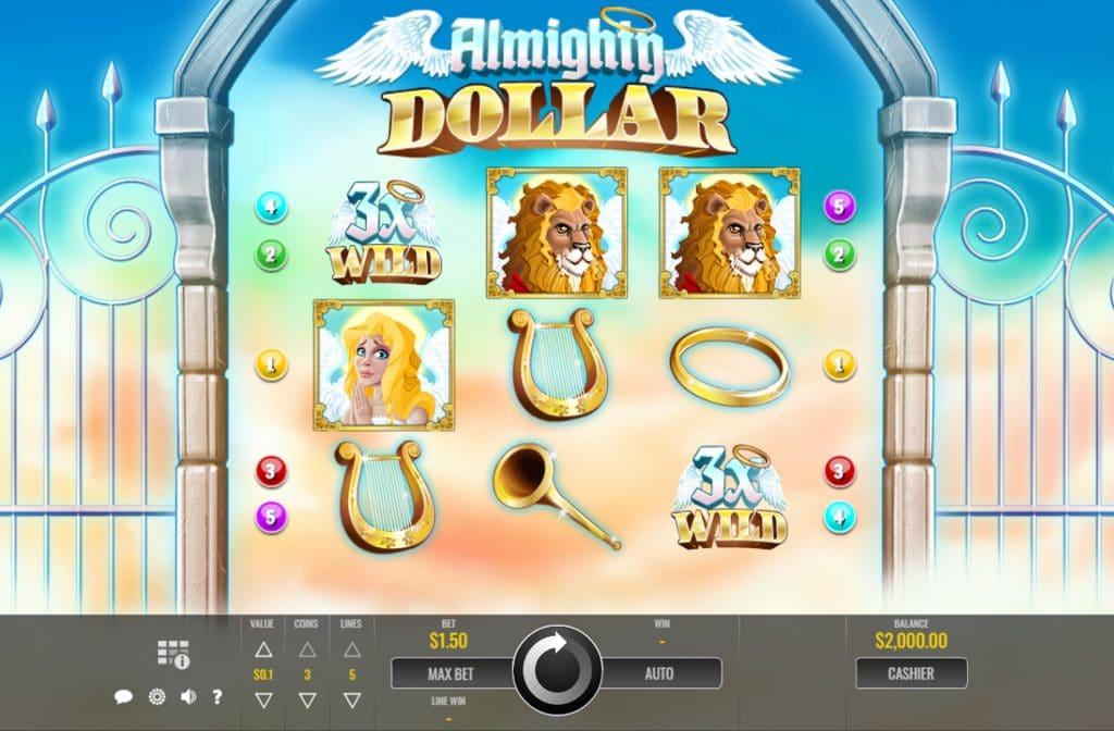 Almighty Dollar is ontwikkeld door Rival Gaming en heeft een mooie gameplay