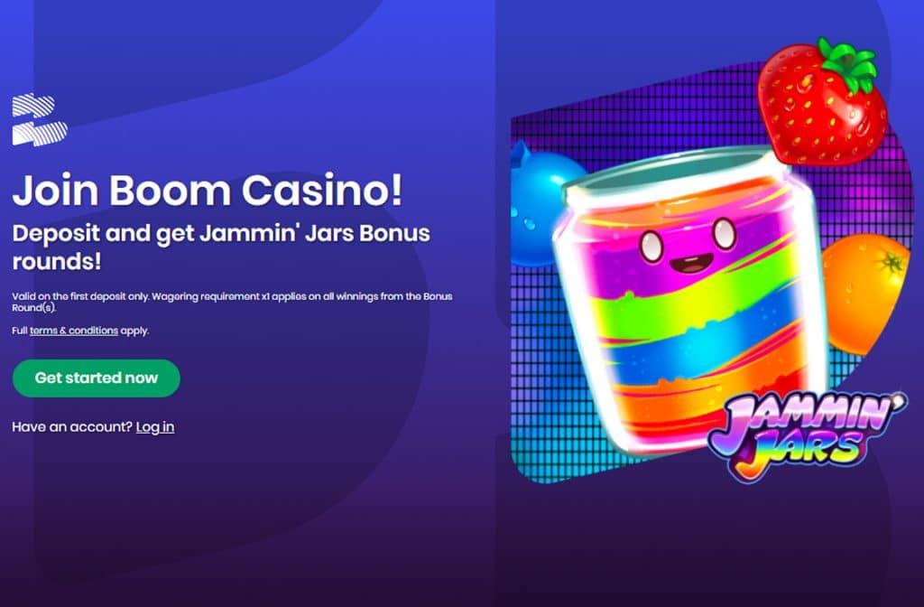 Bij je eerste storting krijg je gratis bonus rondes voor Jammin' Jars