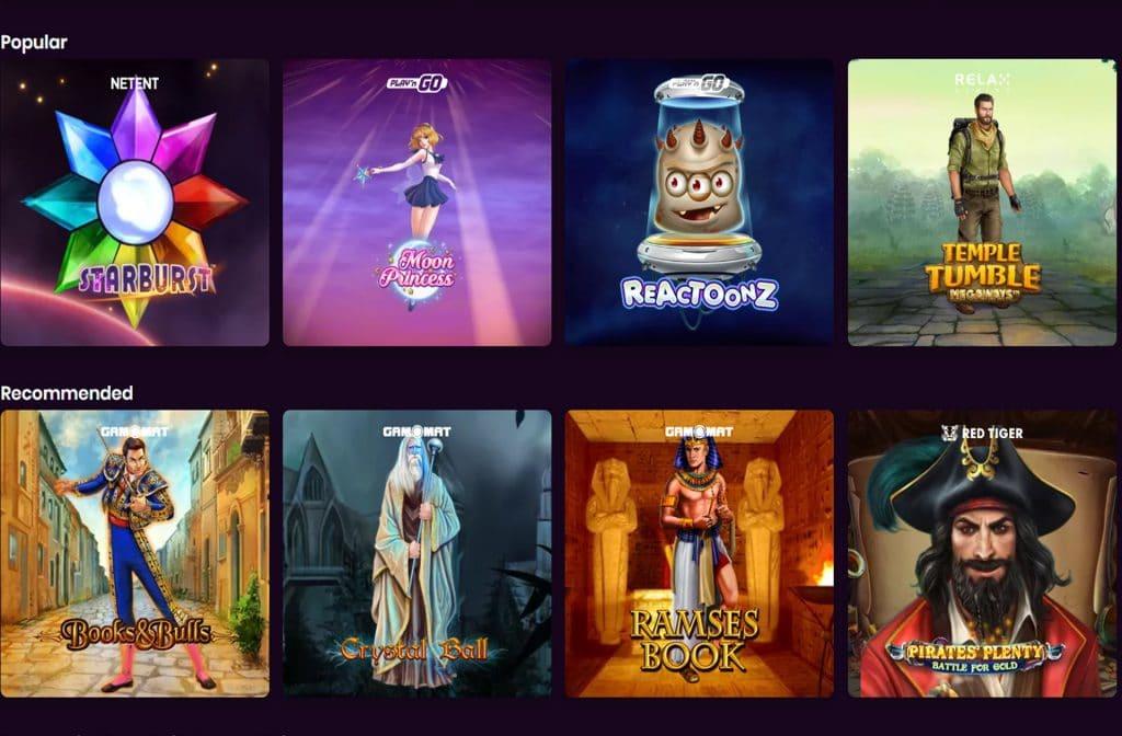 Bij Boom Casino heb je keuze uit vele spellen