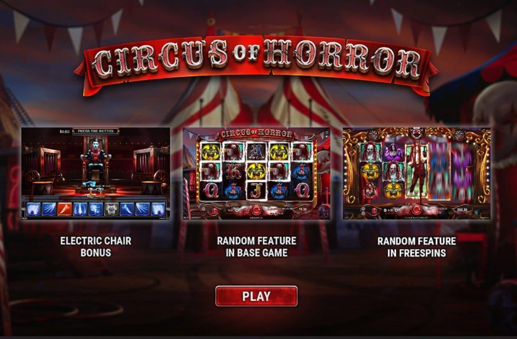 Bij Circus of Horror zijn er diverse bonussen te verdienen