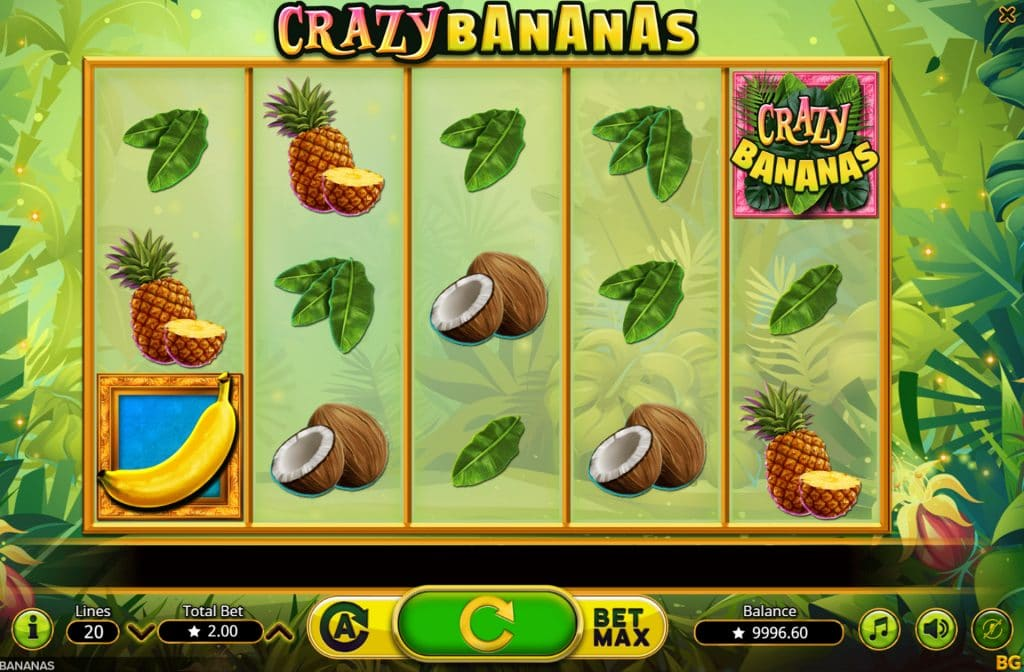 Het Crazy Bananas logo activeert een bonusspel