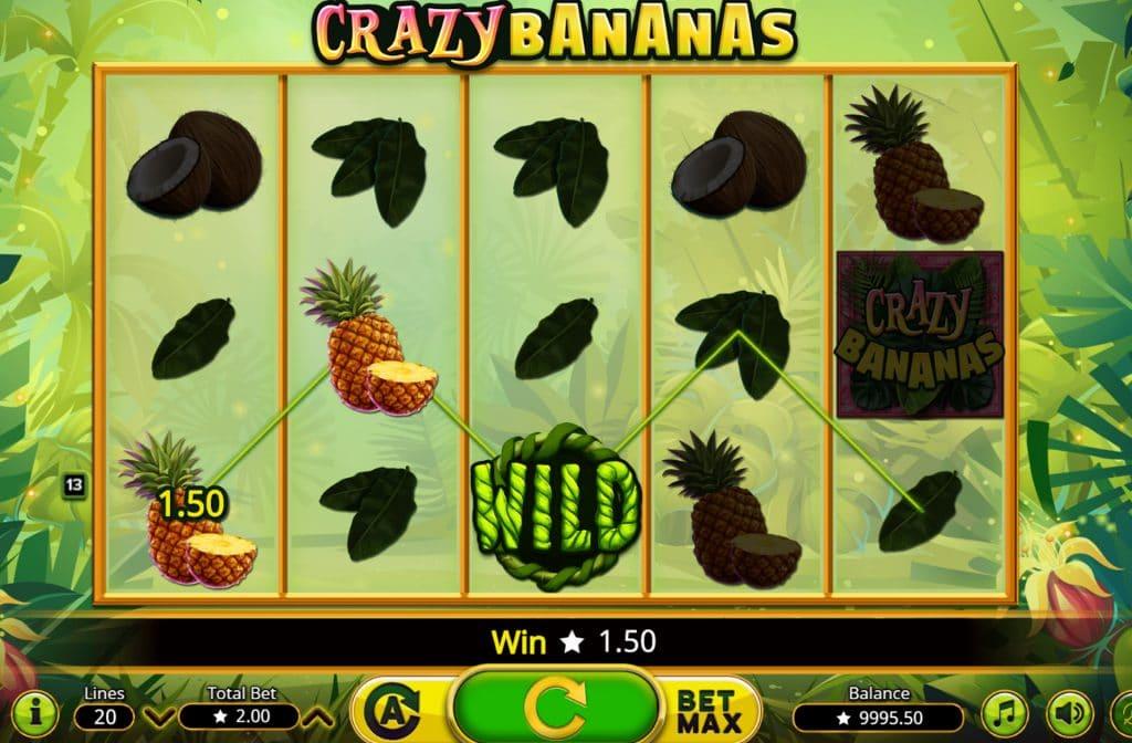 De Wild in Crazy Bananas kan alle andere symbolen vervangen